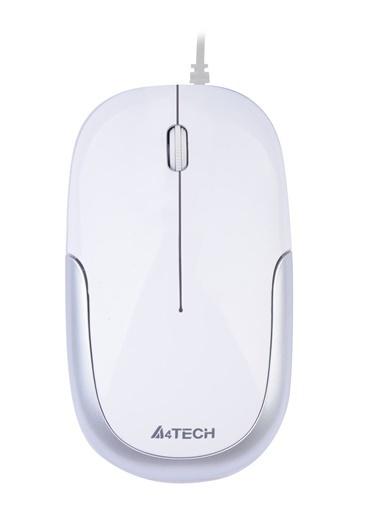 A4 TECH D-110-2 Usb Beyaz&Gümüş Holeless-Mını Renkli